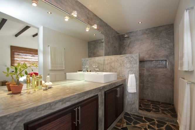 Concrete-vanity-unit-Mediterranean-style-bathroom-665x444
